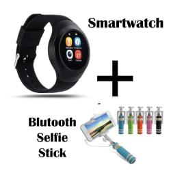Hamee Chromtech Round Camera Smart Watch Bluetooth Smartwatch (831-chromselfie)