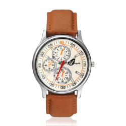 Arum Latest Design In Brown Leather Watch