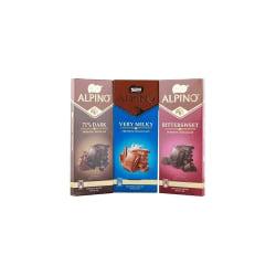 Nestle Alpino Premium Chocolate Bars Combo (Bittersweet, 71% Dark, Very Milky) , 90G Each