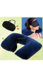 Klink Three-in-1 Travelling Kit (Neck Pillow + Eye Mask + Ear Plugs) Assorted