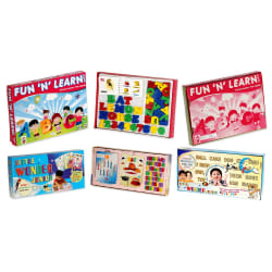Trendbend Combo Of Fun N Learn And Little Wonder Game Set, multicolor