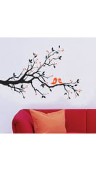 WallTola Wall Art Branch With Lovely Birds Wall Sticker