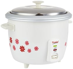 Prestige Delight Electric Rice Cooker PRWO 1.8-2 (700 watts) with 2 aluminium cooking pans