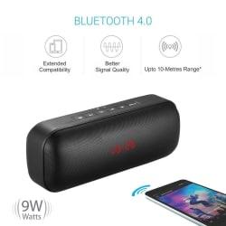 Portronics Sublime III Bluetooth Speaker (with microSD/FM/Aux/Alarm) - Black