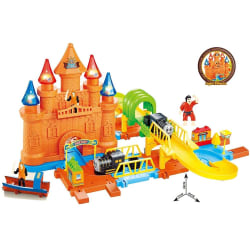 Webby Pirates Track Combination 28 Train Set With Light Effects, Multi Color, multicolor