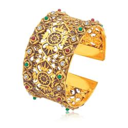 Sukkhi Royal Gold Plated Ad Kada For Women (12241KGLDPI550)