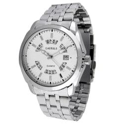 Laurels Aristocrat 5 Analog Silver Dial Men s Watch- Lo-Ast-501