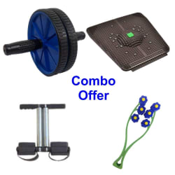 Deemark Combo Pack Of Ab Roller, Relief Mate, Tummy Trimr & Face Rollar