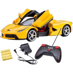 Saffire Remote Controlled Ferrari with Opening Doors, yellow