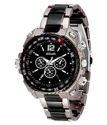 Mikado Analogue Black Dial Men s Watch -Rs2