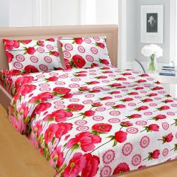 Cortina Premium Set Of 2 Bed Sheet (PRDP-036), multicolor