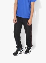 Black Solid Trackpants