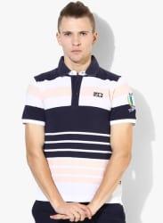Genata Navy Blue Polo T-Shirt