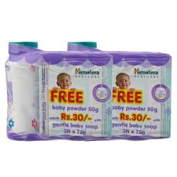 Himalaya Gentle Baby Soap-75* 3Andbaby Powder 50Gm Free-Pack Of 2