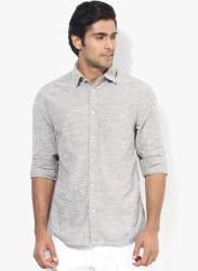 Grey Slim Fit Casual Shirt