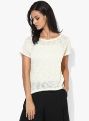 Off White Solid Blouse