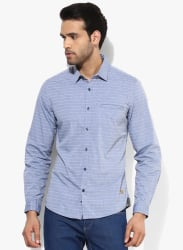 Grey Striped Slim Fit Casual Shirt