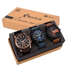 Rich Club Analogue Black Blue Dial Men s Watch - REL-OCT-DENIM
