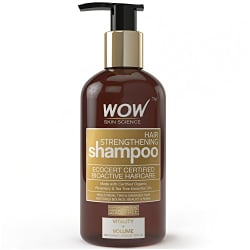 WOW Hair Strengthening No Sulphate & Parabens Shampoo, 300mL