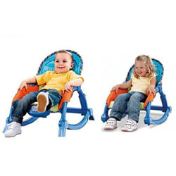 Saffire Newborn to Toddler Portable Rocker, multicolor