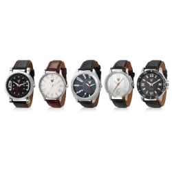 Rico Sordi Set of 5 Mens Leather Watches RSD18-S5-1, multicolor, multicolor