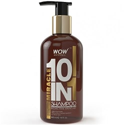 WOW Miracle 10 in 1 No Sulphate& Parabens Shampoo, 300mL