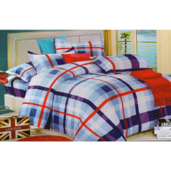 Welhouse Cotton Double Bedsheet with 2 Pillow Cover (NGL-007), multicolour