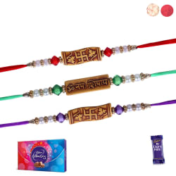 Siddhi Sales Rakhi With Chocolate Sweet Hamper