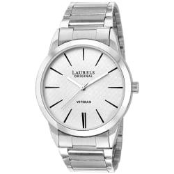 Laurels Polo Series White Men Watch (LO-POLO-101), silver, white