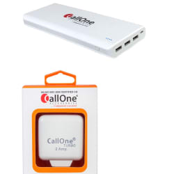 CallOne Combo (30000mAh Turbo Power Bank + 2A Charger with Cable) - White