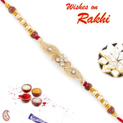 Aapno Rajasthan Beautiful Floral Style Rakhi With Net Base, only rakhi