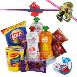 Creativity Centre Kids Rakhi Hampers With Cakes And Namkeen