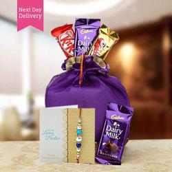 Ferns N Petals Rakhi Chocolaty Wishes Combo