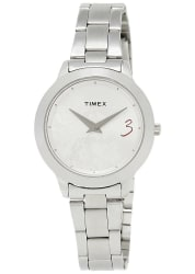 Timex Silver Dial And Silver Strap Analog Watch For Women - Ti000T60000