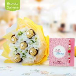 Ferns N Petals Rakhi With Ferrero