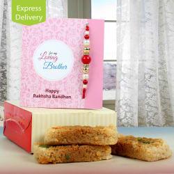 Ferns N Petals Rakhi With Milk Cake