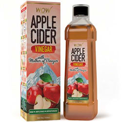 WOW Raw Apple Cider Vinegar - 750 ml - with strand of mother - Not from concentrate