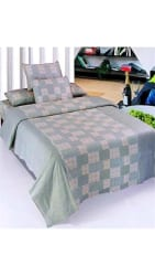 Super India Floral Cotton Green Double Bed Sheet with two pillow cover 3 pcs