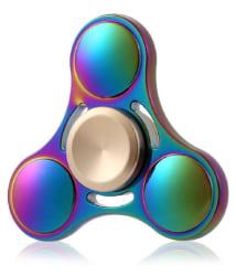 Montez Rainbow Triangle UFO Metal Fidget Hand Spinner Toy