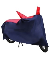 HMS Bike Body Cover - Red & Navy Blue- For All Scooties and Bikes Upto 150cc