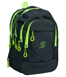 Sara Black Polyester School Bag