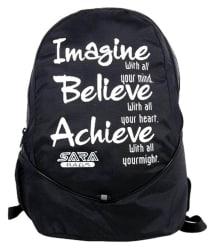 Sara bags Black causal Backpack
