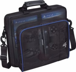 Black Multifunctional Travel Carry Case Carrying Bag For Sony PlayStation4 PS4