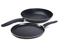 Non Stick Flat Tawa 235 mm With Free Fry Pan 205 mm