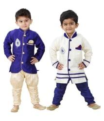 Dixita Multicolor Cotton Kurta Pajamas - Pack of 2
