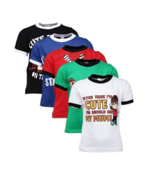 Goodway Attitude Themed Pack of 5 T-Shirts For Boys