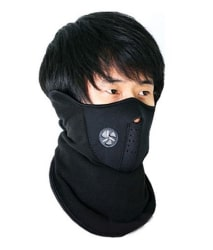 Neoprene Anti Pollution Bike Face Mask/Neck Warmer - Black