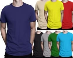 Plain Casual PolyCotton Unisex Black Blue Red Navy Yellow Grey White Green