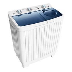 Croma 6.5kg CRAW2202 Semi Automatic Top Loading Washing Machine (White)