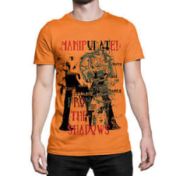 Designer Manipulated From The Shadows Printed T Shirts For Men Graphic Tee